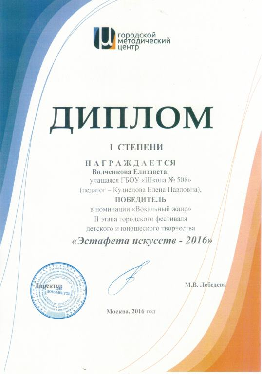 Награды за 2016 год